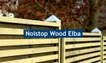 Noistop Wood Typ Elba, lightgreen 2.000 x 450 x 170 mm